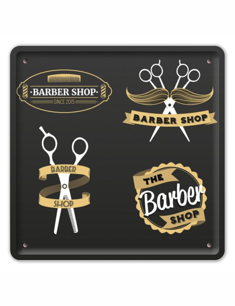BARBER SHOP METALOWY SZYLD PLAKAT RETRO #08773