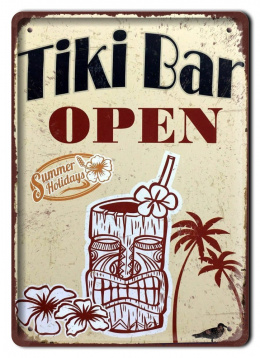 TIKI BAR METALOWY SZYLD VINTAGE RETRO #09645