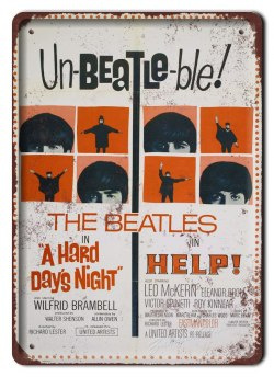 THE BEATLES METALOWY SZYLD PLAKAT RETRO #06089