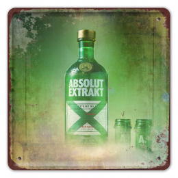 ABSOLUT METALOWY SZYLD PLAKAT VINTAGE RETRO #09966