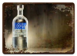 ABSOLUT METALOWY SZYLD VINTAGE RETRO #09969