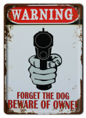 WARNING METALOWY SZYLD PLAKAT RETRO VINTAGE #10099