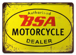 BSA MOTORCYCLE METALOWY PLAKAT SZYLD RETRO #07416
