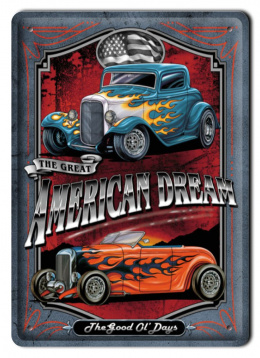 AMERICAN DREAM METALOWY SZYLD PLAKAT RETRO #00540