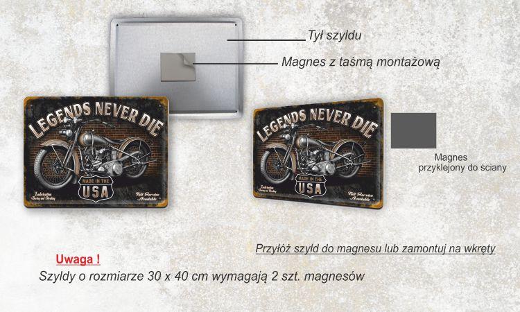 Metalowe Szyldy Tabliczki Plakaty Retro Vinatage Kup